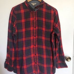 Lucky Brand Plaid Button Down shirt size L
